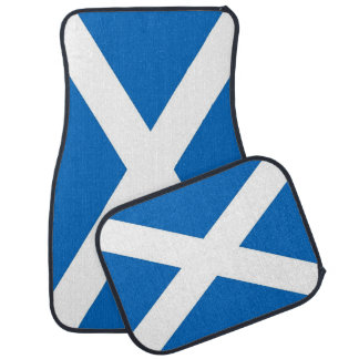 Set of car mats with Flag of Scotland