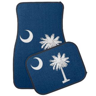 Set of car mats with Flag of South Carolina, USA
