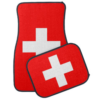 Set of car mats with Flag of Switzerland