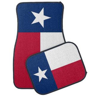 Set of car mats with Flag of Texas, USA
