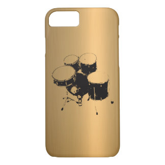 Set of Drums Bronze Copper Effect iPhone 8/7 Case
