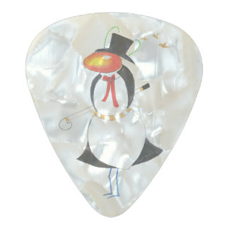 Set of Eleg-Ant Clayton Guitar Pearl Celluloid Pearl Celluloid Guitar Pick