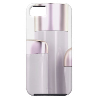 Set of female deodorants on white background iPhone 5 cover