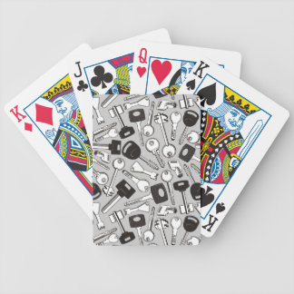 Set of Keys Background Bicycle Playing Cards