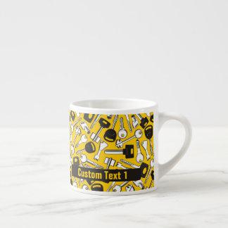 Set of Keys Background Espresso Cup