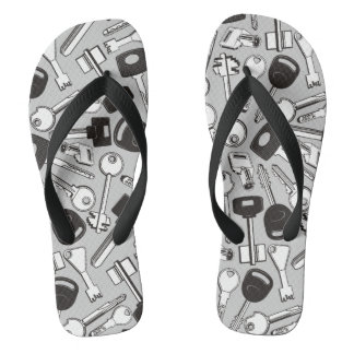 Set of Keys Background Flip Flops