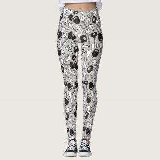 Set of Keys Background Leggings