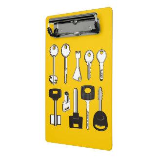 Set of Keys Mini Clipboard