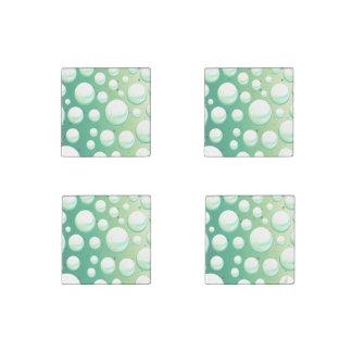 Set of magnets mint aqua green bubbles stone magnets