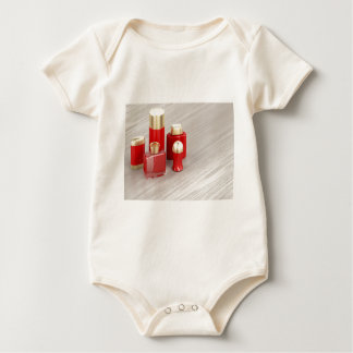 Set of men's cosmetic products baby bodysuit