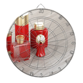 Set of men's cosmetic products dartboard
