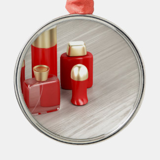 Set of men's cosmetic products metal ornament