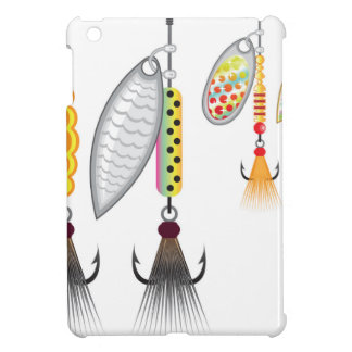 Set of spinners fishing lures vector illustration iPad mini cover