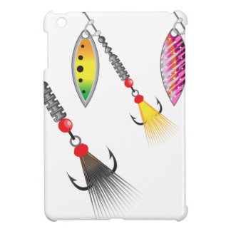 Set of spinners fishing lures vector illustration iPad mini covers