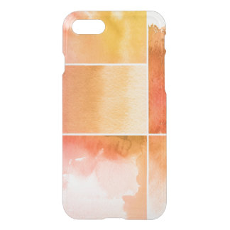 Set of watercolor abstract hand painted 4 iPhone 7 case
