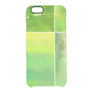 Set of watercolor abstract hand painted clear iPhone 6/6S case
