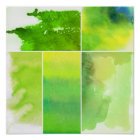 Set of watercolor abstract hand painted poster