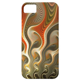 Set Phasers To Stun Abstract Orange Flames iPhone 5 Cases