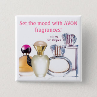 Set the Mood~AVON Fragrances 2 Inch Square Button