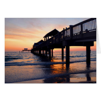 """Set The Night To Music"" Clearwater Beach, Florida Card"