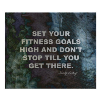 Set Your Fitness Goals High for Success Poster