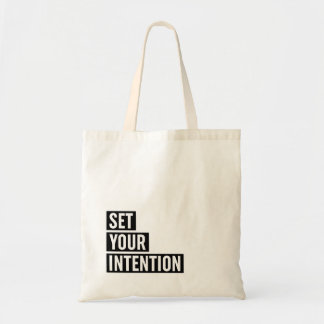 Set Your Intention Typography Tote Bag