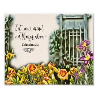 Set Your Mind on Things Above Christian Art Print Photograph