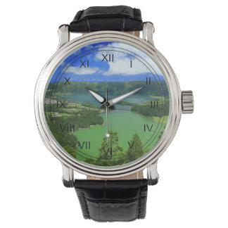 Sete Cidades lakes Wristwatch