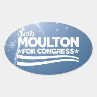 Seth Moulton Oval Sticker