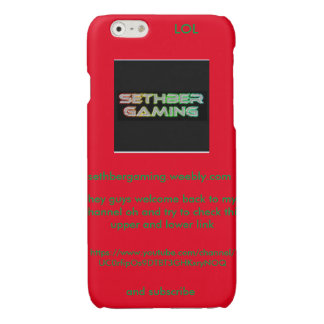 SethberGaming iphone 6'6s case