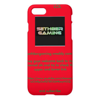 SethberGaming iPhone 7'6s case