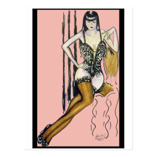 Seti - Brunette Pin-up Girl Card