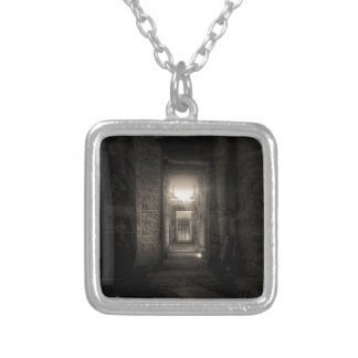 Seti I Temple Abydos 2 Silver Plated Necklace