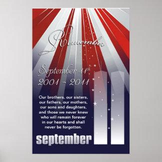 Setpember 11th - Large Remembrance Poster