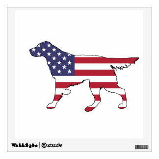 """Setter """"American Flag"""" Wall Decal"""