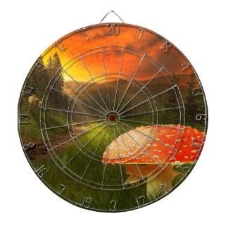 Setting Autumn Sun. Dartboard