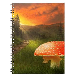 Setting Autumn Sun. Notebook