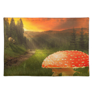 Setting Autumn Sun. Placemat