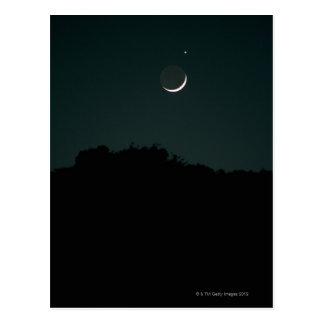 Setting Crescent Moon Postcard