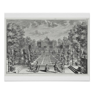 Setting for an opera in a garden, from 'Architectu Poster