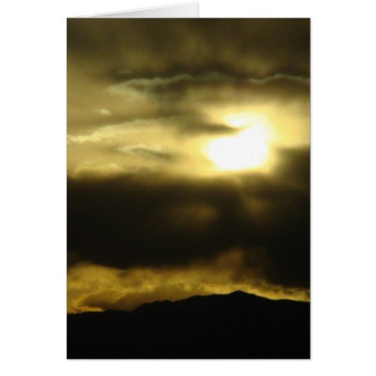 Setting sun card