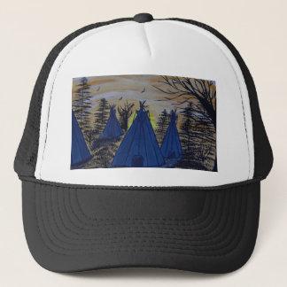 setting sun trucker hat