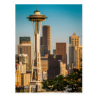 Setting Sunlight On The Space Needle And Seattle Postcard