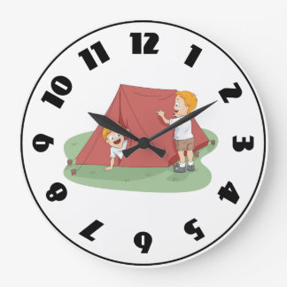 Setting Up A Tent Clock