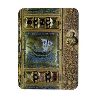Settlement of the Body of St. Mark, enamel panel f Magnet