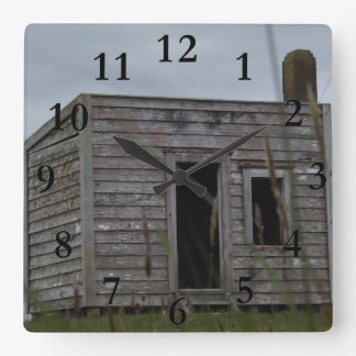 settlers cabin aotearoa new zealand square wall clock