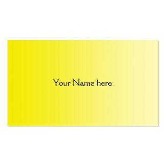SEULEMENT gradients de COULEUR - citron jaune Cartes De Visite Professionnelles