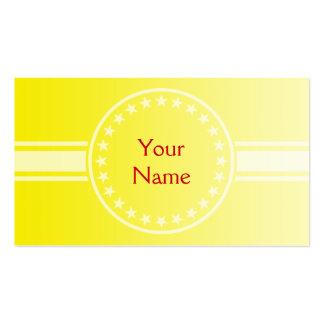 SEULEMENT gradients de COULEUR - jaune citron + vo Cartes De Visite Professionnelles