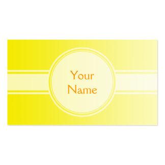 SEULEMENT gradients de COULEUR - jaune citron + vo Cartes De Visite Personnelles