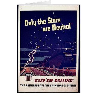 Seulement les étoiles sont neutres carte de vœux